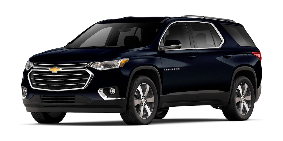 Chevrolet Traverse 2020, camioneta familiar en color azul lunar